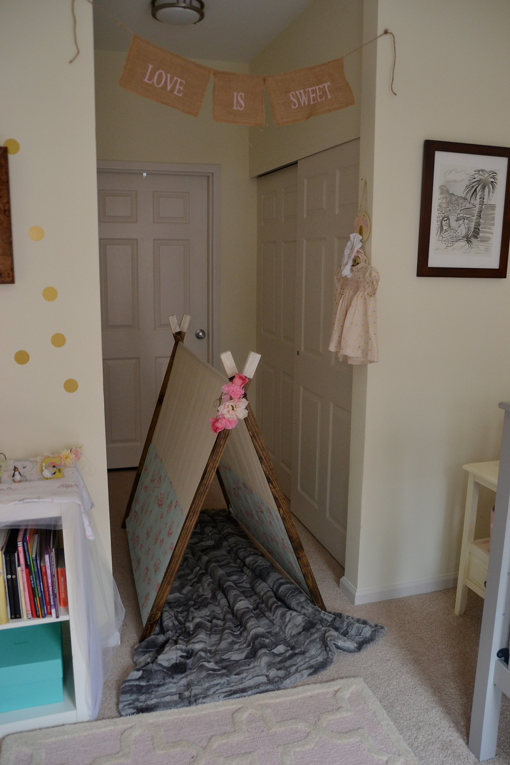 toddler-play-tent-kid-friendly-spaces-pink-gold-nursery
