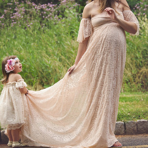 Gorgeous Maternity Photos & the Prettiest Pink Dress I've Ever Worn