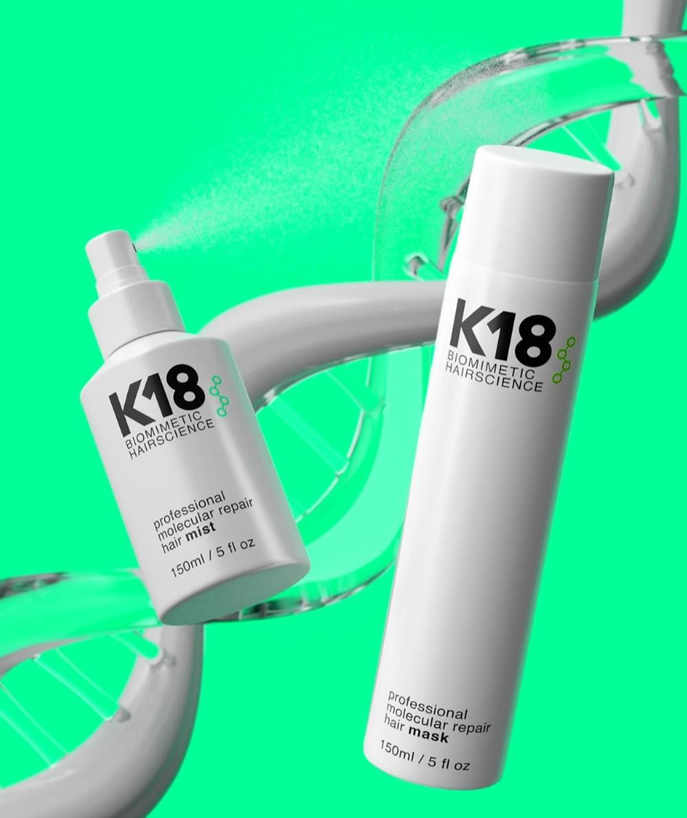 K18 heals the hair