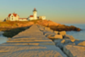 Eastern Point Lighthouse at sunset, Glou