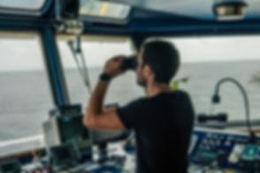 Navigational officer lookout on navigati