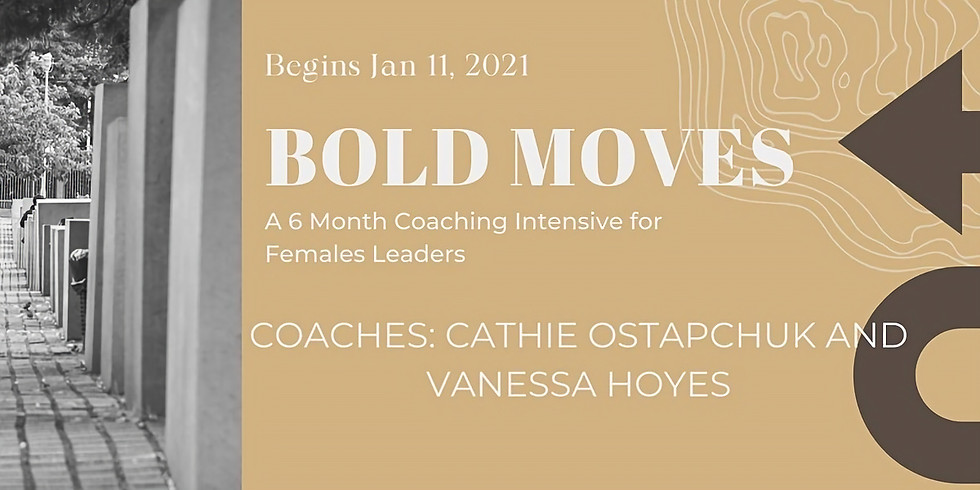 BOLD MOVES - A Six Month Online Coaching Intensive for Female Leaders