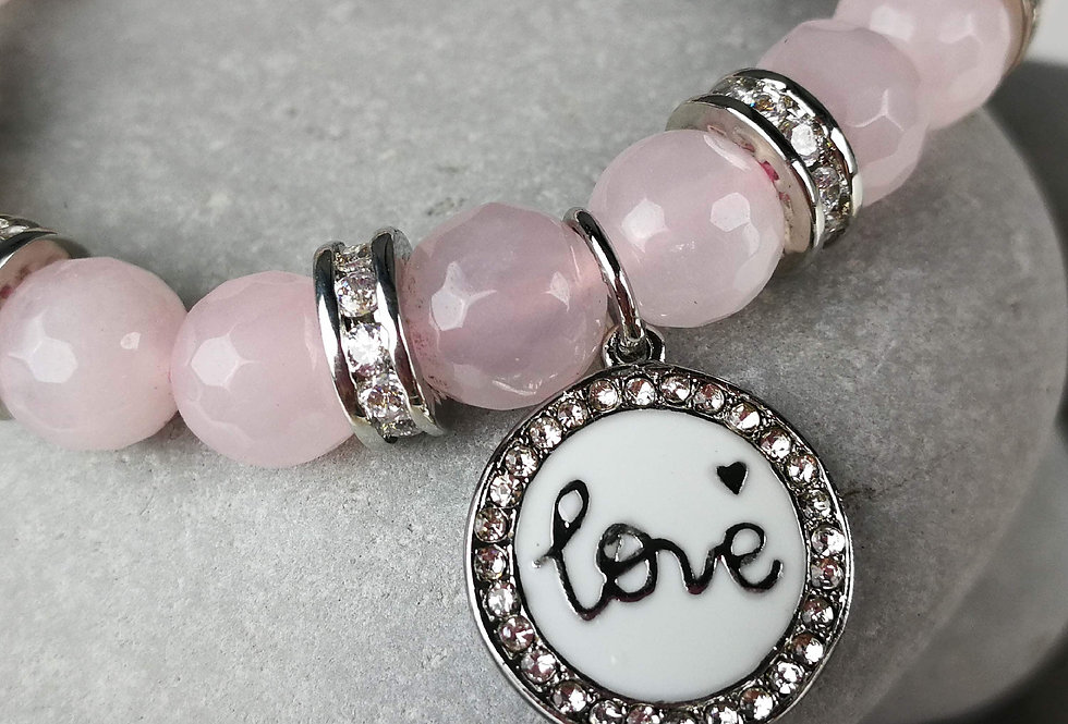 Love Inspired Rose Quartz Bracelet