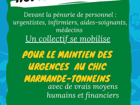 Manifestation tous les vendredi à 17H00 à l'hôpital de Marmande