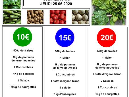Commande et livraison de paniers légumes
