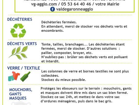 Gestions des déchets : diverses informations