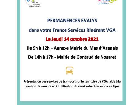 Permanences Evalys dans votre France services