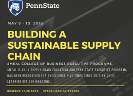 Building a Sustainable Supply Chain coming May 8 - 10