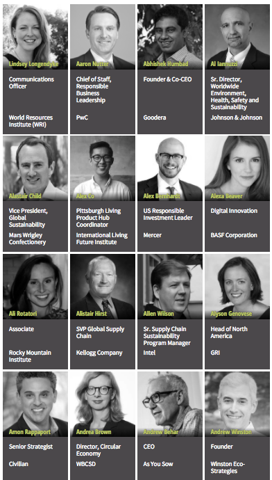 GreenBiz 2018 speakers