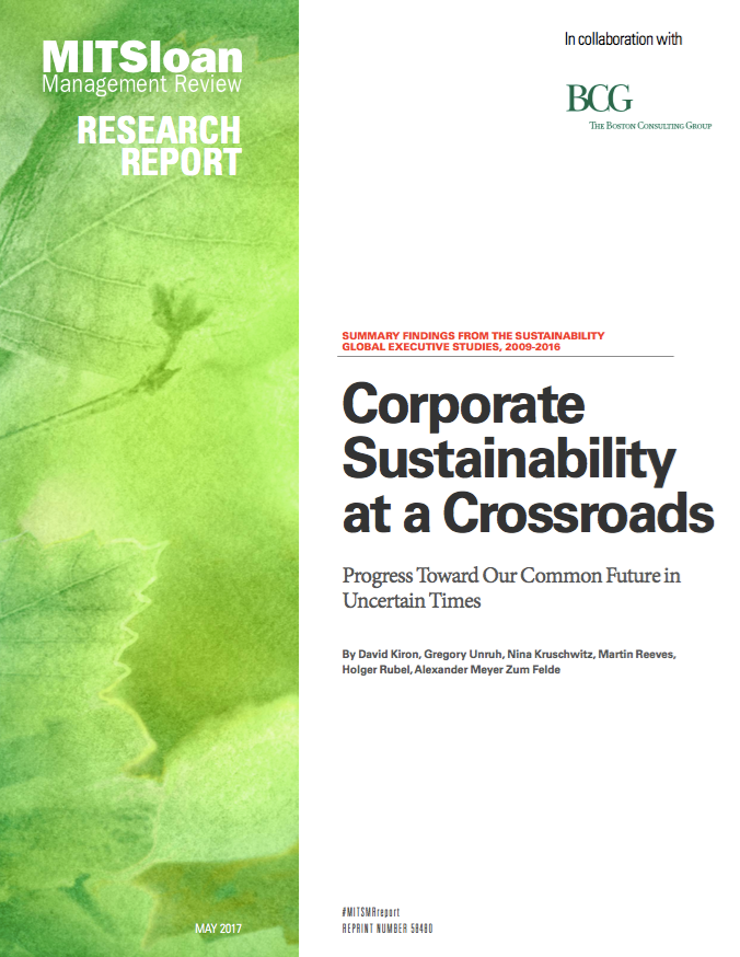 Corporate Sustainability at a Crossroads MIT Sloan Mgt and Boston Consulting Group