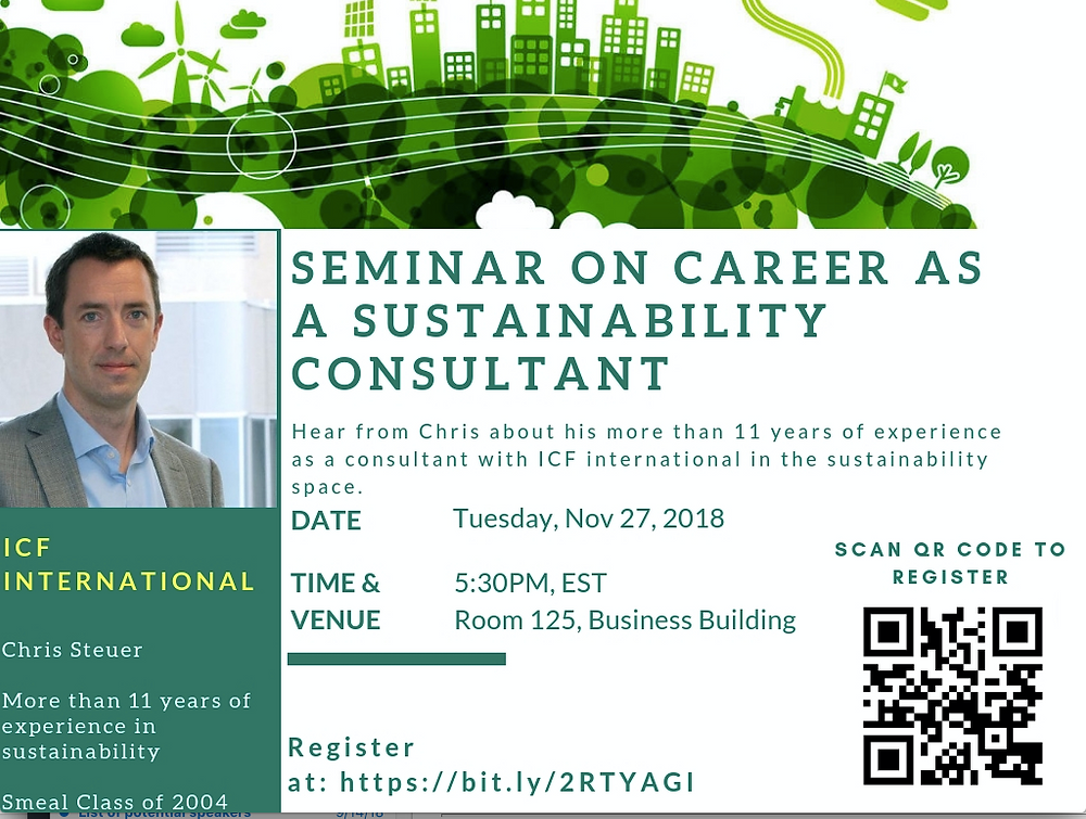 Chris Steuer on careers in sustainability consulting