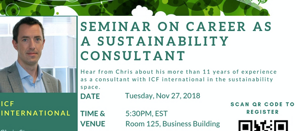 Register - Chris Steuer (PSU '04) on Careers in Sustainability Consulting on Tuesday, Nov 27