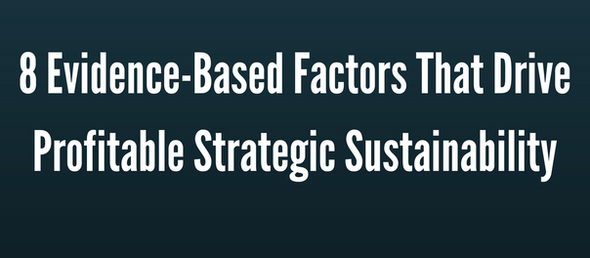 Results of an 8-year study reveal the secrets to profitable, meaningful sustainability strategy