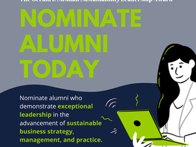 Accepting Nominations for the Gerald I. Susman Sustainability Leadership Award