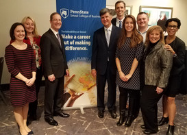 Smeal Alumni Event in Washington D.C. - spreading the word about our commitment to sustainability
