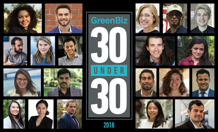 GreenBiz 30 under 30 list of social entrepreneurs, sustainability leaders, and impact investors