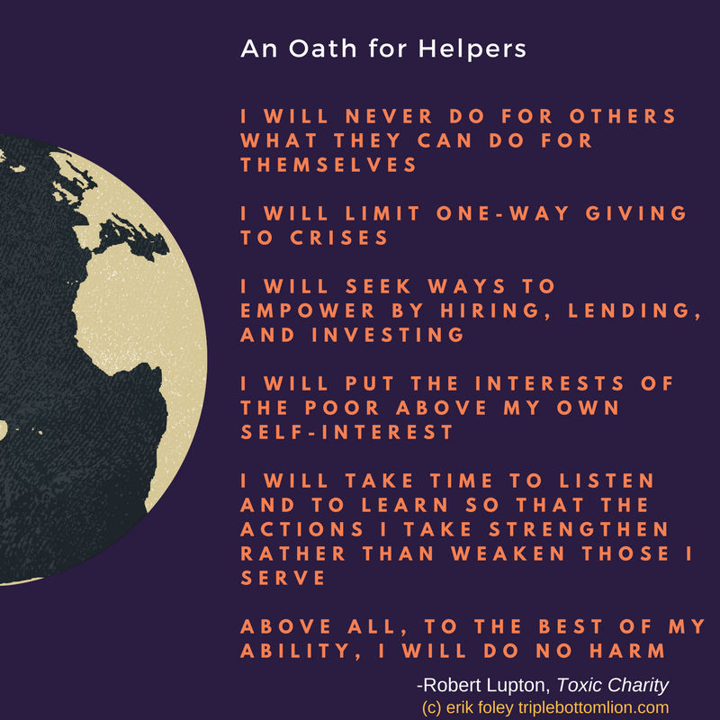 An Oath for Helpers