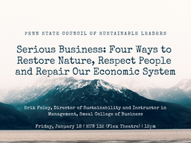Sustainability Showcase Speaker Series. Every Friday. RSVP (all talks are recorded and made availabl