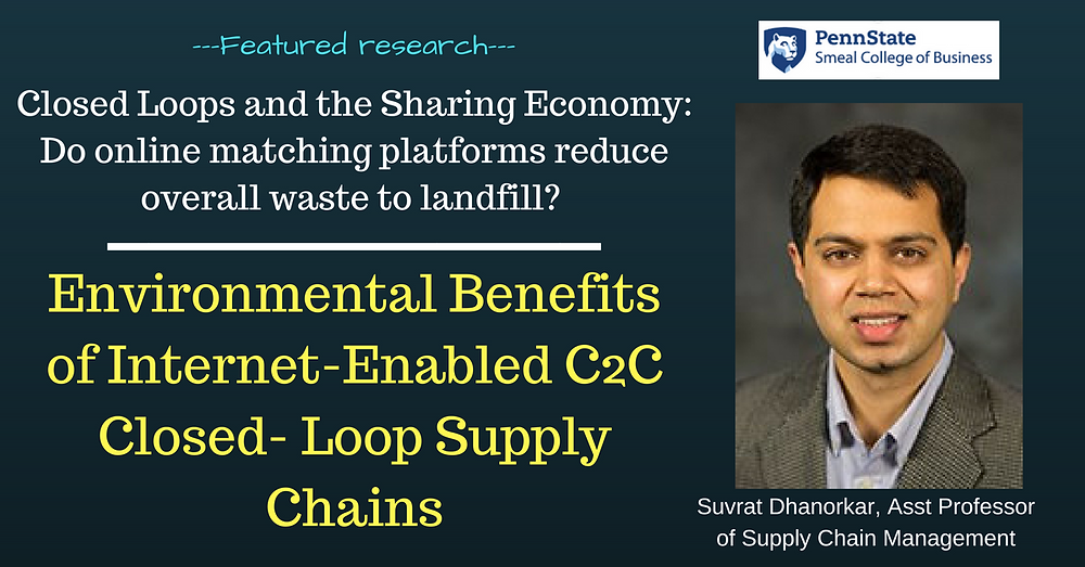 Suvrat Dhanorkar research on closed loop shared economy and internet enabled matching platforms published in Management Science