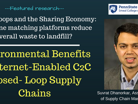 Research profile: Reducing Waste Through the Sharing Economy - do online platforms make a difference