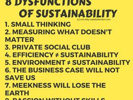 Keynote: The 8 Dysfunctions of Sustainability