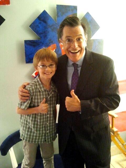 Grayson with Stephen Colbert