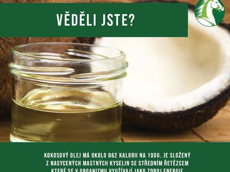 Kokosový olej  v koňském krmivu