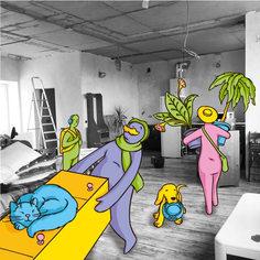 """Серия иллюстраций для программы лояльности среди покупателей недвижимости по заказу """"Гамбит-медиа"""""""