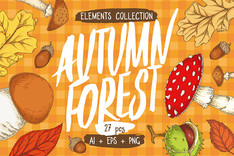 Autumn Forest Elements Collection