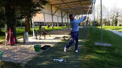 Practice de golf sur eau