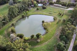 Vue aérienne étang