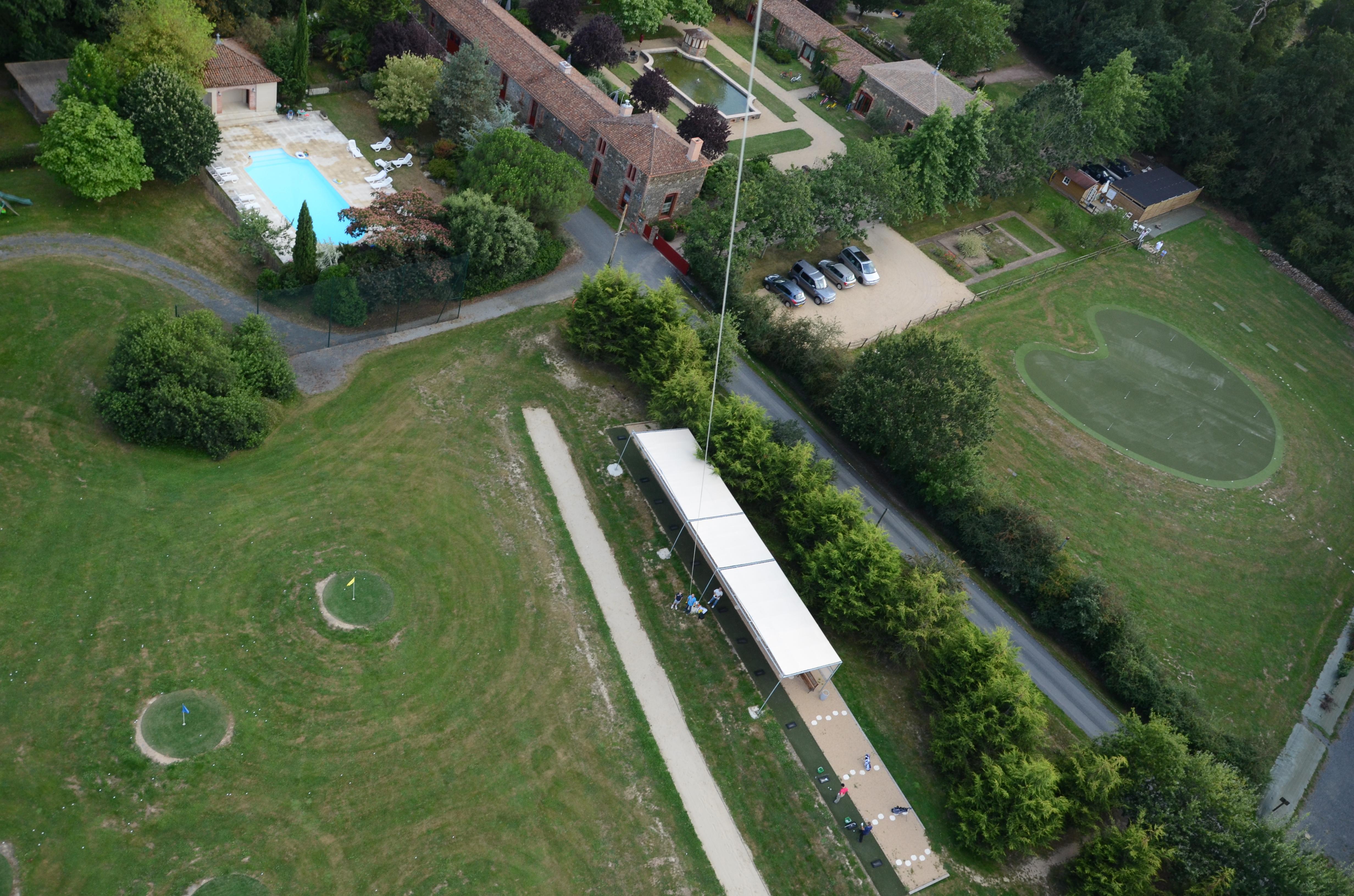 Vue aérienne du practice