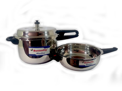 Butterfly Pressure Cooker Blueline 7.5L Combi Pack
