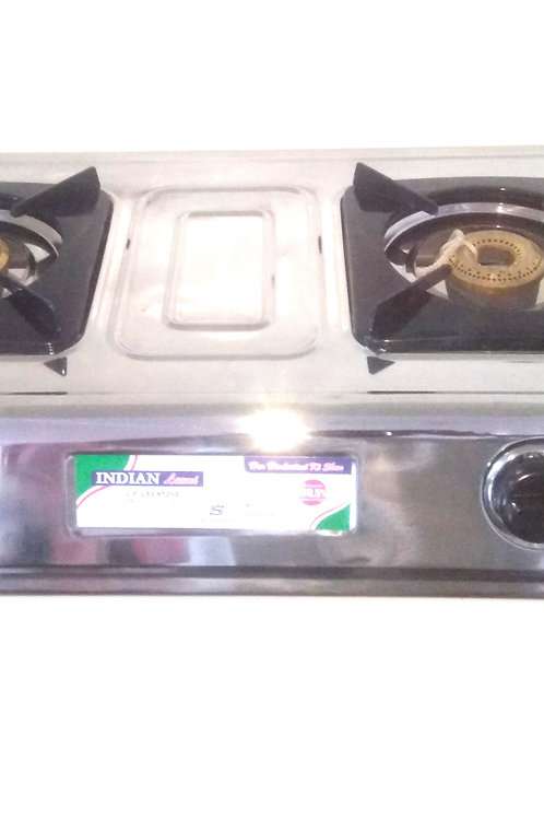 Indian Laxmi LPG Gas Stove 2 Br. SS