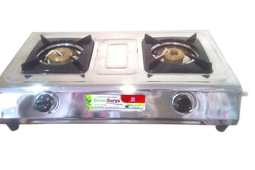 Green Surya Gas Stove 2 Br. Stainless Steel