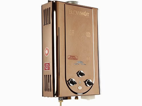 Blow Hot Gold Gas Water Heater