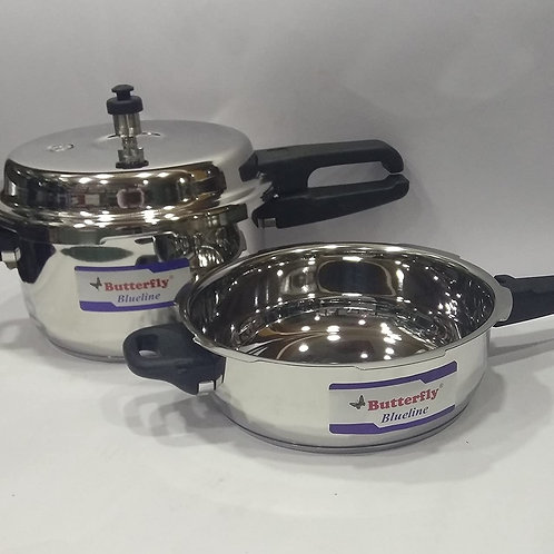 Butterfly Pressure Cooker 5 Ltr Combi Pack