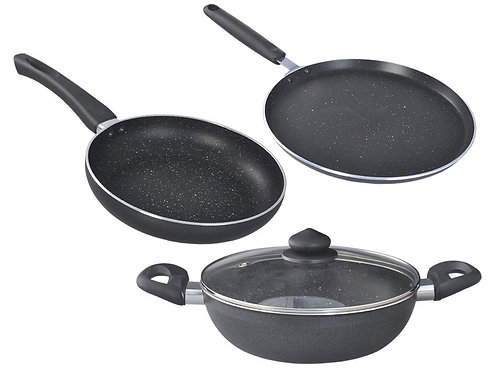 Prestige Cookware Set Omega Deluxe Granite 3 Pcs And 1 Lid