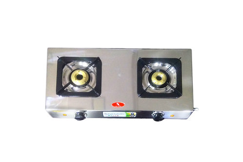 Surya Safe Gas Stove 2 Br. Stainless Steel
