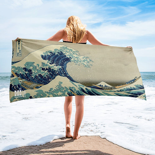 Japanese Wave Towel