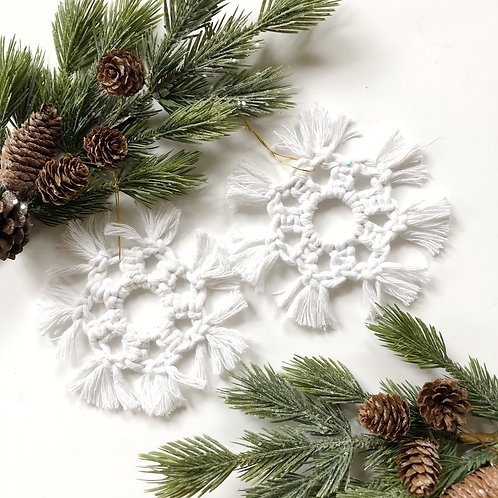 cotton snowflake | 5pk