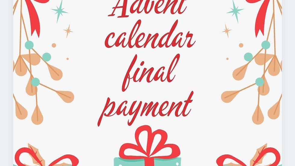 Advent calendar final payment