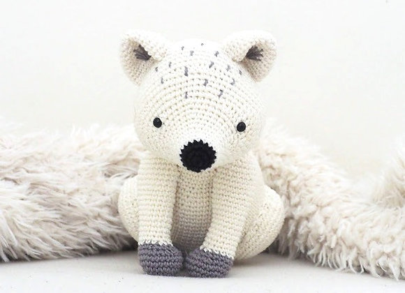 Arctic fox crochet pattern