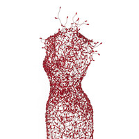 Red Stand By Dress