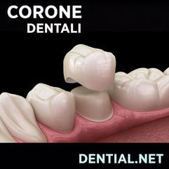 Corone dentali in zirconio o metallo ceramica.