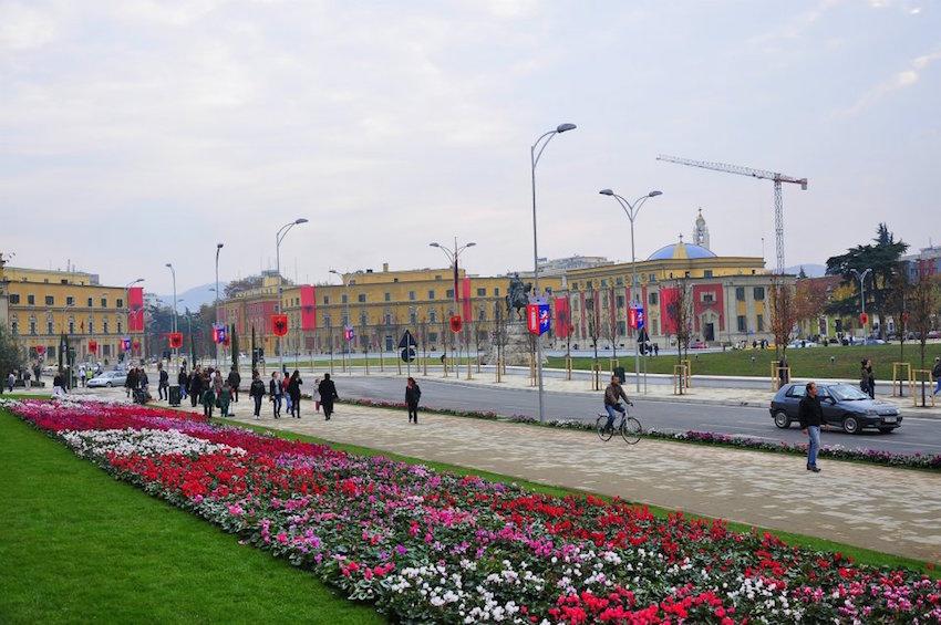 scanderbeg square Tirana Albania