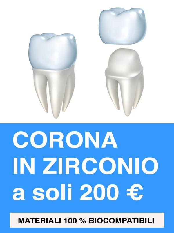 le nostre corone in zirconio su costruite con Zirconio Zahn