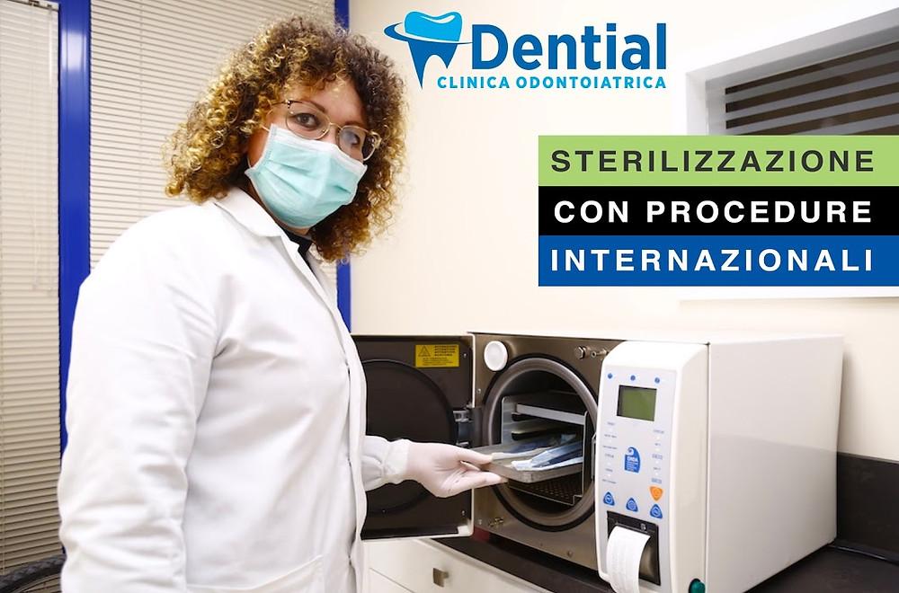 tutti i nostri utensili chirurgici sono sterilizzati con  attrezzature italiane