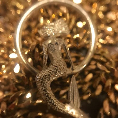 Silver mermaid pendant