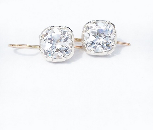 Georgian style OMC diamond CZ earrings